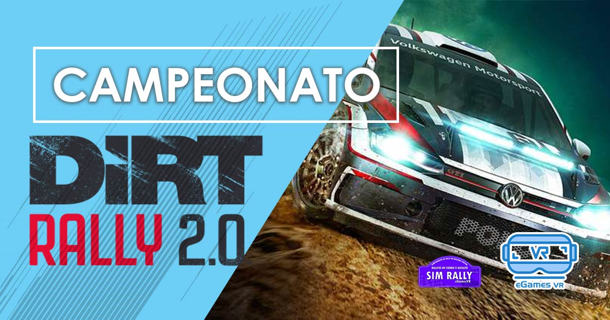 Campeonato Dirt Rally 2.0 eGames VR - SimRally MINIATURA